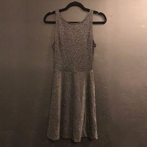 Silver Sparkle Forever 21 Skater Dress